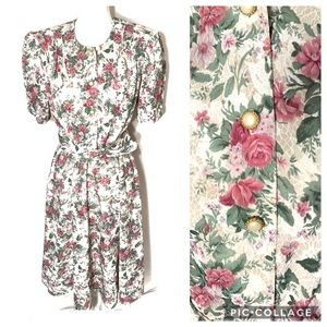Vintage California Looks Floral Dress